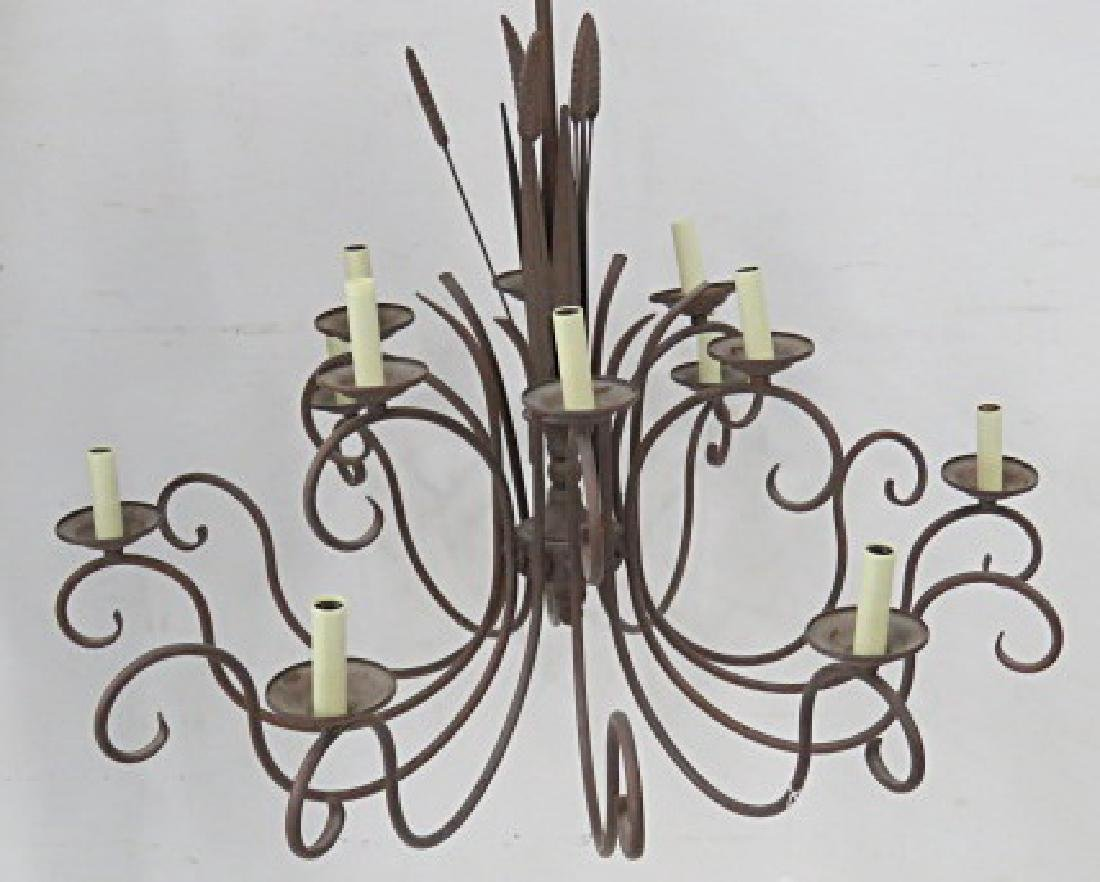 "FRENCH STYLE IRON, MULTI-ARM CHANDELIER. HEIGHT 26"";"