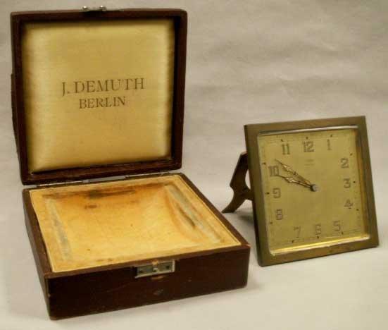 1022: ART DECO E.GUBELIN LUCERNE/ETERNA W. CO. CLOCK