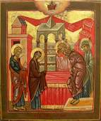 1238 RUSSIAN ICON THE PRESENTATION OF THE TEMPLE