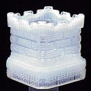 VICT OPALESCENT GLASS CHIMNEY MATCH HOLDER