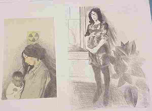 LOT (2) LITHOGRAPHS, RAPHAEL SOYER