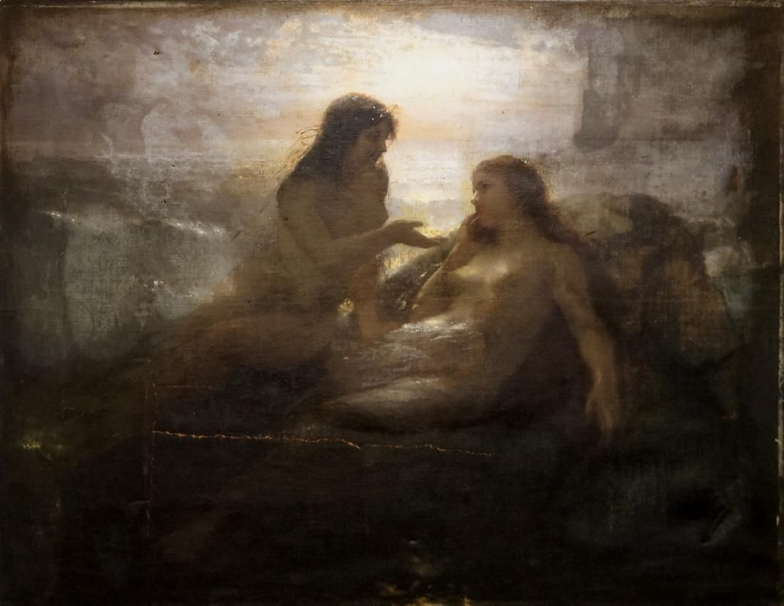 FRENCH SCHOOL (19TH CENTURY), OIL ON CANVAS, MAIDENS BY