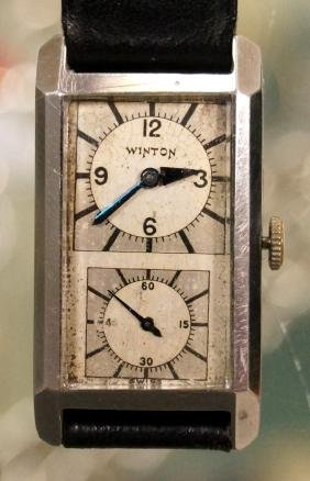 VINTAGE WINTON STAINLESS 15-JEWEL MECHANICAL DOCTOR'S