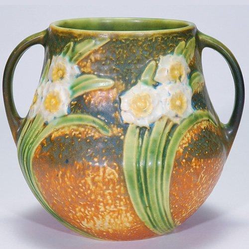 """1: Roseville Jonquil vase, shape 526-6 1/2"""""""