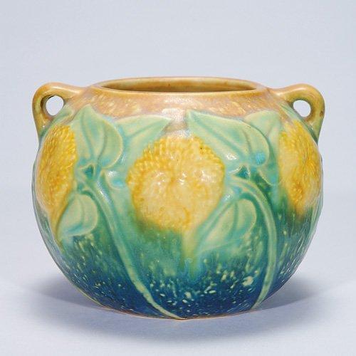 """5: Roseville Sunflower vase, 4"""""""