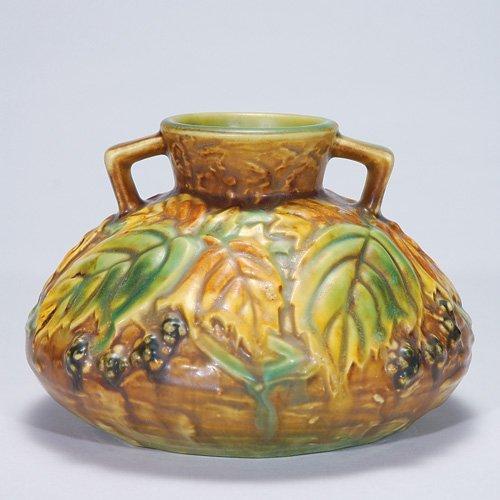 """6: Roseville Blackberry vase, shape 568-4"""""""