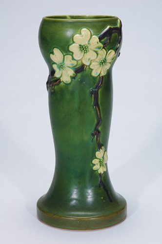 "12: Roseville 13 3/4"" Dogwood I vase"