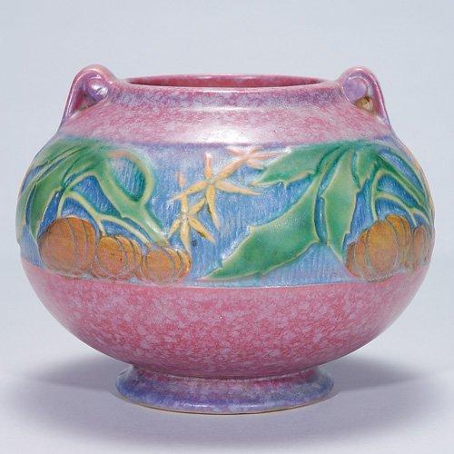 """16: Roseville Baneda vase in pink, 235-5, 5 3/8"""""""