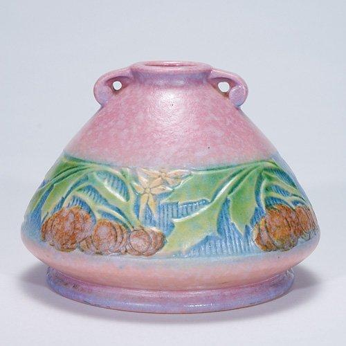 """17: Roseville pink Baneda vase, shape 603-4"""""""