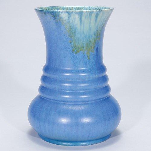 """22: Roseville blue Tourmaline vase, A 435-10"""""""