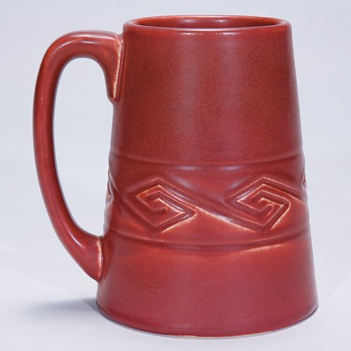"1000: Rookwood 5 3/4"" mug, 1906, mat red"