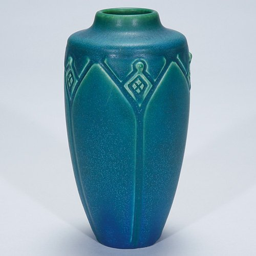 "1012: Rookwood mat production vase, 1913, 6 1/4"""