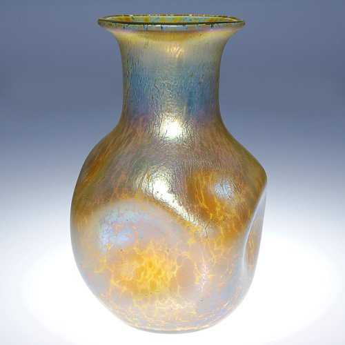 737 Loetz Papillon Vase Dimpled Gold 7 34