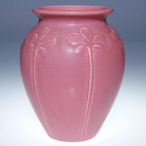 """1006: Rookwood pink mat vase, 1929, 2382, 6"""""""