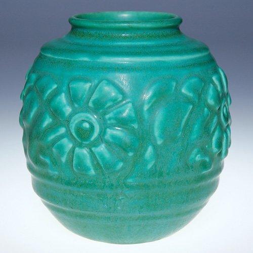 "1008: Rookwood green production vase, 1931, 4 1/2"""