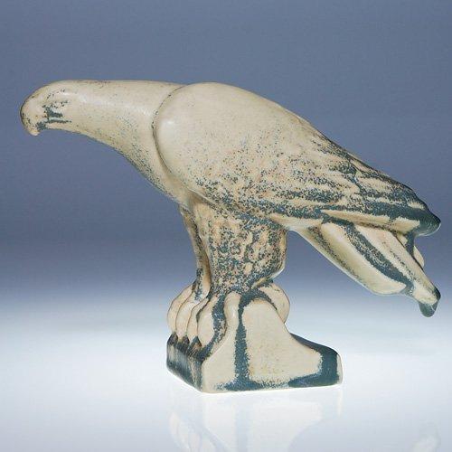 """1011: Rookwood eagle bookend, 1934, 5 1/4"""""""