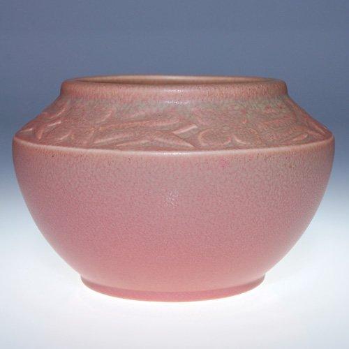 1013: Rookwood pink mat vase, 1921, 2179, 3 3/4