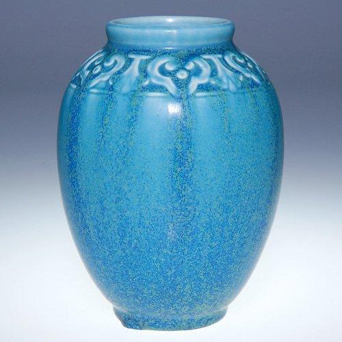 "1016: Rookwood 5"" production vase, mat blue, 1927"