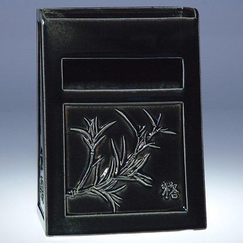 """1021: Rookwood 8"""" letter holder, #7019, 1959"""