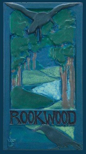 """1062: Rookwood Faience tile, Rooks, Toohey, 14""""x8"""""""