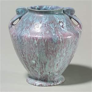 """521: Roseville Carnelian II vase, shape 331, 7 1/8"""""""