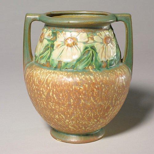 0019: Roseville Dahlrose vase, shape 367-8, 8