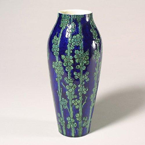 0325: Newcomb HG vase, 1902, floral, Joor, re