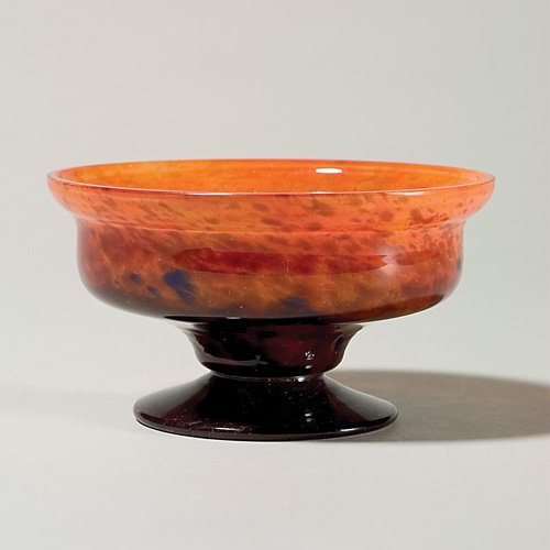 1213: Schneider attributed compote, marked, 2 3/4""