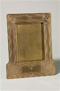 """1341: Tiffany """"Abalone"""" standing frame, 14"""" X 11"""","""