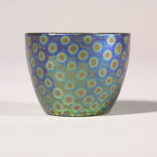 0513: Zsolnay mini vase, metallic glaze with