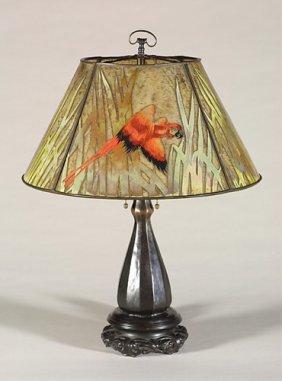 1243: Handel lamp, parrot, number 7686