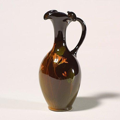 1405: Rookwood Standard ewer, floral, Sehon,