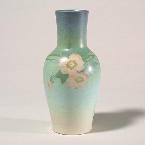 1406: Rookwood Vellum vase, Diers, 1918, 1662