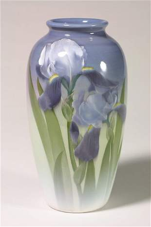 Rookwood Iris vase, irises, Schmidt, 19