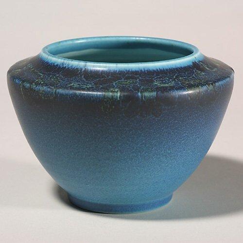 1419: Rookwood Decorated Mat bowl, Moos, 1923