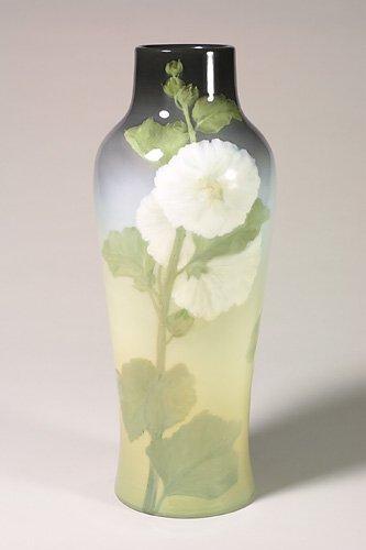 1612: Rookwood  Iris vase, hollyhocks, Diers,