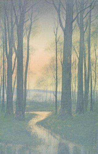 1803: Rookwood Vellum landscape plaque, KS, 1