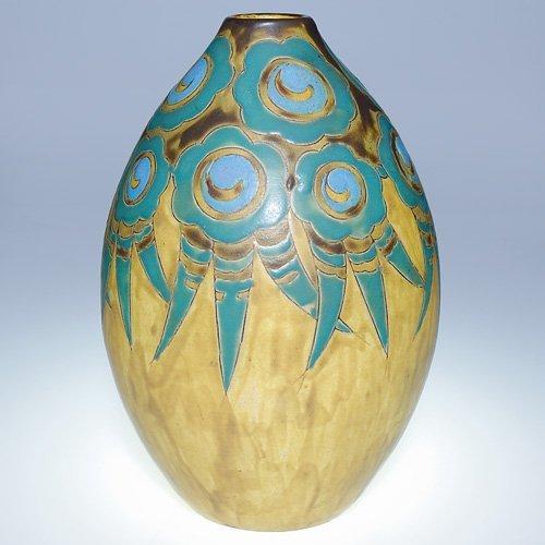 """2: Boch Freres Gres Keramis vase, 11"""""""