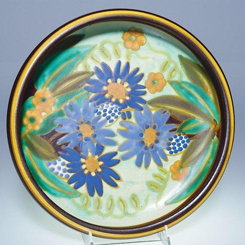 "9: Boch Freres Matt Enamel bowl, floral, 2x11"""