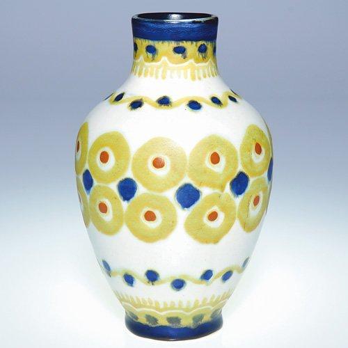 """16: Boch Freres Matt Enamel vase, 6 3/4"""""""