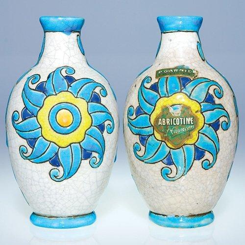 """19: Two Boch Freres Crackled enamel vases, 6 3/8"""""""
