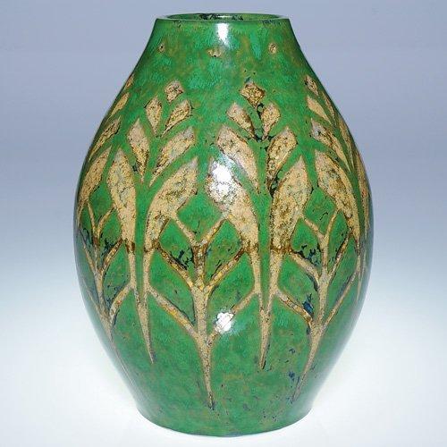 """20: Boch Freres Gres Keramis vase, 9"""""""