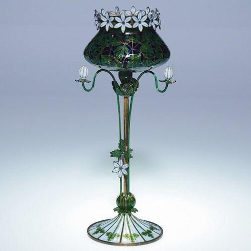 """648: Plique-a-Jour floral form goblet, 8"""", Anderson"""