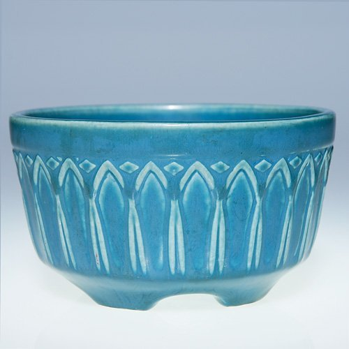 "1017: Rookwood 2 3/4"" X 5"" production bowl, #1745 blue"