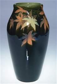 """1445: Rare Rookwood Black Iris vase, Sax, 1906, 9 1/4"""""""