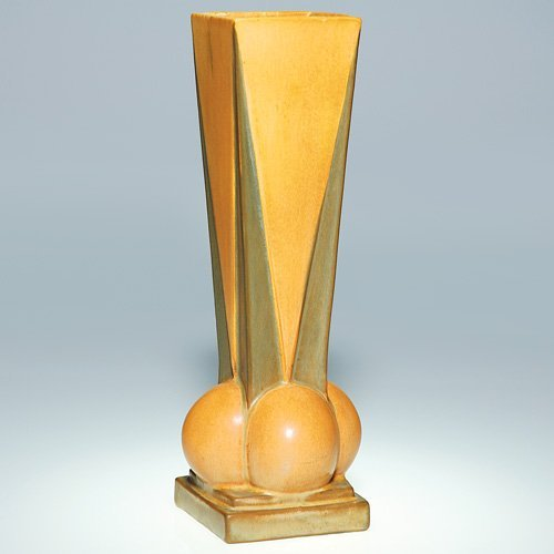 8: Roseville Futura, Four Ball Vase, 393-12""