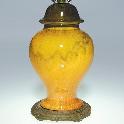 "27: Roseville factory lamp, 7 1/2"", Tuscany"