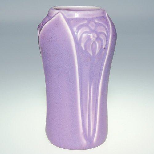 """1103: Rookwood purple mat production vase, 6 3/8"""""""