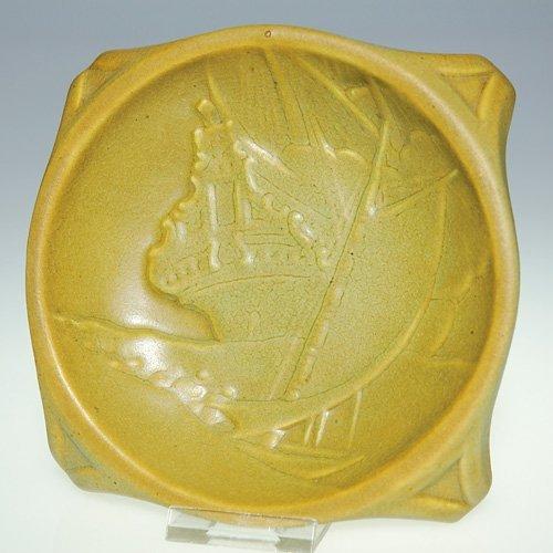 1105: Rookwood commercial ashtray, 1914, ship
