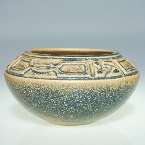 "1107: Rookwood blue-tan production bowl, 2 3/8"""